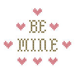 Be Mine embroidery Stock Photo