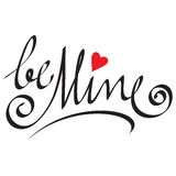 Be mine hand lettering Royalty Free Stock Photos