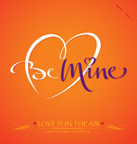 BE MINE hand lettering (vector) Stock Photo