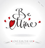 Be Mine hand lettering (vector) Stock Photos