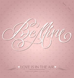 be mine hand lettering (vector) stock photography