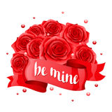 Be mine. Happy Valentine day greeting card  Royalty Free Stock Photography