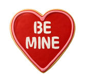 Be Mine Heart Shaped Valentine Cookie Royalty Free Stock Photo