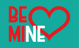 Be mine heart. Valentines day and wedding design. Be mine. Valentines day and wedding vector design Royalty Free Stock Photo