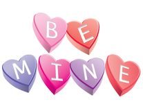 Be Mine Hearts Stock Photos