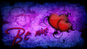 Be mine inscription with beating heart for Valentine's day stock video footage