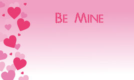Be Mine on pink backgrounds Valentine theme. Vector art royalty free illustration