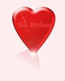Be mine red heart Royalty Free Stock Images