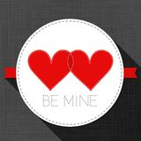 Be mine red hearts in love Valentine's day card Stock Photos