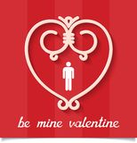 Be mine valentine design card Royalty Free Stock Photography