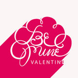 Be mine valentine greeting card Stock Images