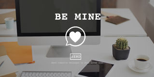 Be Mine Valentine Romance Heart Love Passion Concept Royalty Free Stock Images