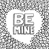 Be Mine Valentine's Sketch Royalty Free Stock Images
