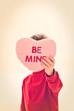 Be Mine Valentine Wish Stock Image