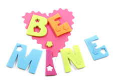 Be Mine Words Stock Images
