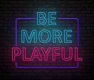 Be more playful concept. Royalty Free Stock Photos
