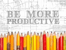 Be More Productive Pencils Sign Royalty Free Stock Image