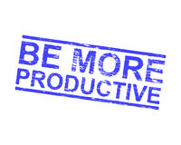 Be More Productive Rubber Stamp Royalty Free Stock Image