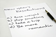 Be more romantic. New eyar resolution be more romantic Stock Photo