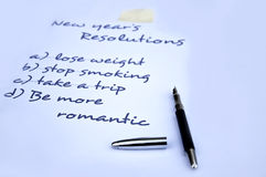 Be more romantic resolution. Be more romantic new year's resolution Royalty Free Stock Photo