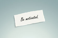Be motivated Royalty Free Stock Images