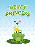 Be my princess card Royalty Free Stock Image