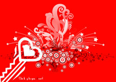 Be my Valentine 18. Valentine's day love illustration with heart on colourful background Royalty Free Stock Image