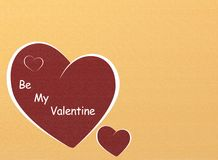 Be my valentine. Background with hearts stock illustration