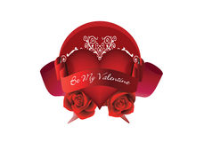 Be my valentine. A be my valentine composition illustration Royalty Free Stock Photography