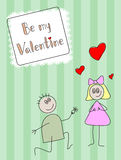 Be my Valentine Stock Photography
