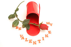 Be my valentine. Isolated photo of be my valentine Stock Images