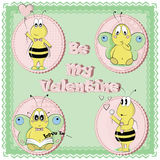 Be My Valentine. St. Valentine`s Day. Icons, Banners, Card Design. Cartoon Characters Set. Bees. Butterflies vector illustration