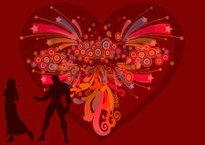 Be my Valentine 34. Valentine's day love illustration with heart on colourful background Stock Photos