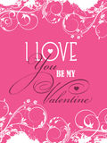 Be my Valentine background Royalty Free Stock Photos