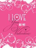 Be my Valentine background Royalty Free Stock Photos