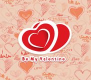 Be my valentine background Royalty Free Stock Photography