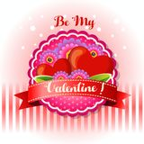 Be my valentine card royalty free illustration