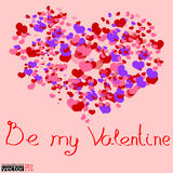 Be my Valentine card Stock Photography