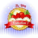 Be my valentine card daisy vector illustration
