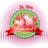 Be my valentine card flourish royalty free illustration