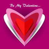 Be my Valentine card Royalty Free Stock Images