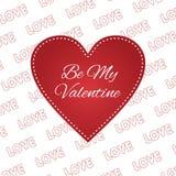 Be my Valentine card  love 14 february. Heart Stock Photos