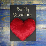 Be My Valentine card with red heart Stock Images