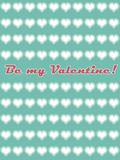 Be my valentine card 01. Be my valentine card for st. valentine`s day pin-up style Royalty Free Stock Image
