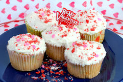 Be My Valentine Cupcakes Stock Photos