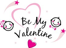 Be my Valentine. Cute design Royalty Free Stock Photos