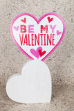 Be My Valentine. A be my valentine decoration for the holiday Royalty Free Stock Photo