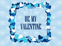 Be my valentine. Festive background for greeting cards and banners. Vector Royalty Free Stock Photography
