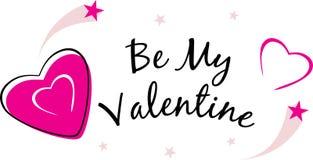 Be my Valentine. Festive design. Illustration Stock Photo