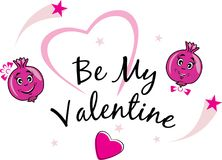 Be my Valentine. Funny design Royalty Free Stock Image